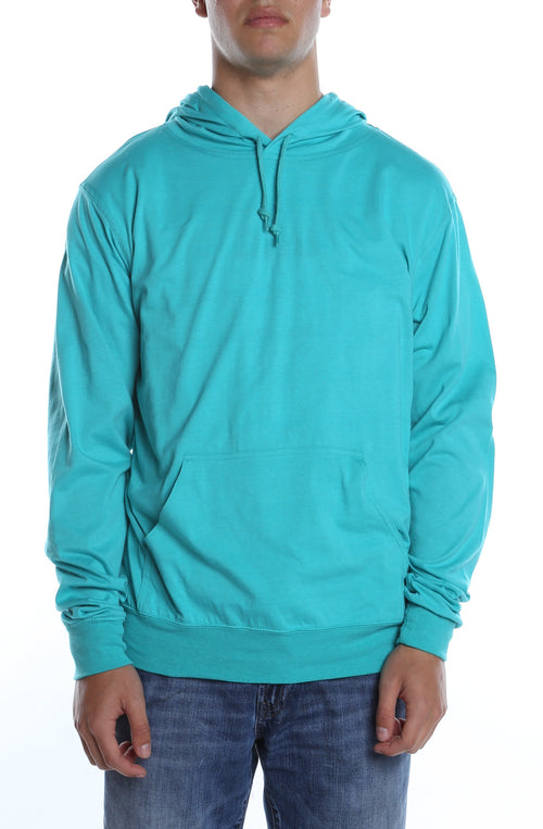 Men's Beach Jersey Hoodie Teal - COTTONHOOD