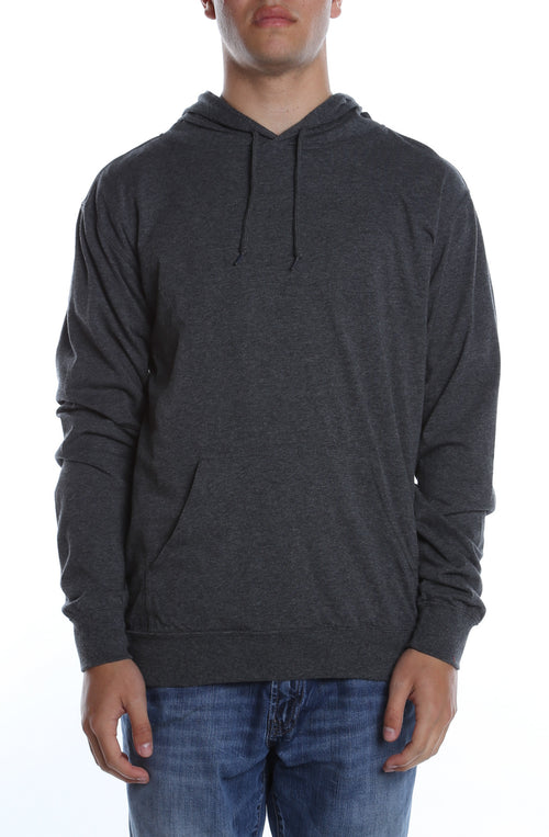 Men's Beach Jersey Hoodie Charcoal Heather - COTTONHOOD