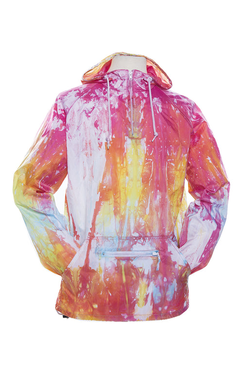 Packable Anorak Pullover Nylon Shell Drip Dye Pink - COTTONHOOD