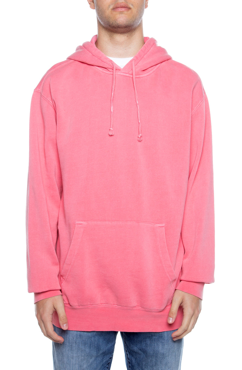 Pigment Dyed Hoodie Pink - COTTONHOOD