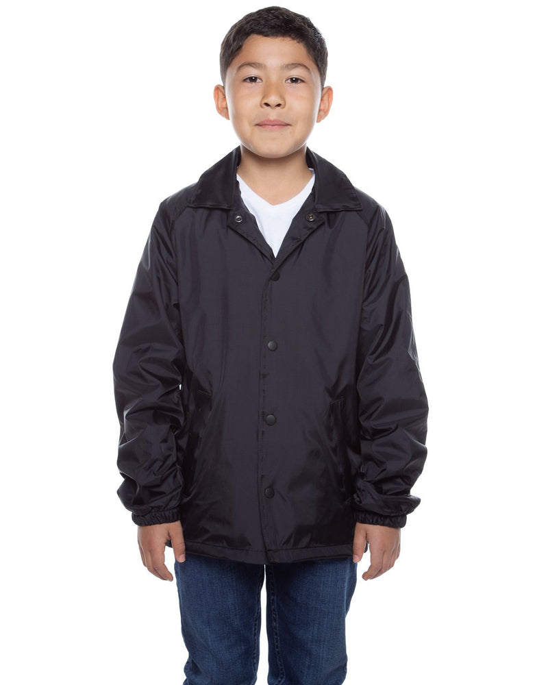 Youth Coaches Jacket Black - COTTONHOOD