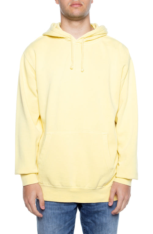 Pigment Dyed Hoodie Yellow - COTTONHOOD