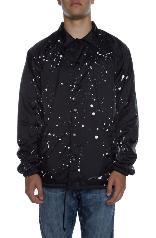 Coaches Jacket Black Splatter - COTTONHOOD