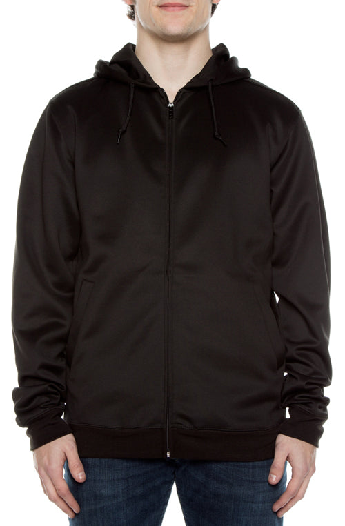 Air Layer Tech Zip Hoodie Black - COTTONHOOD
