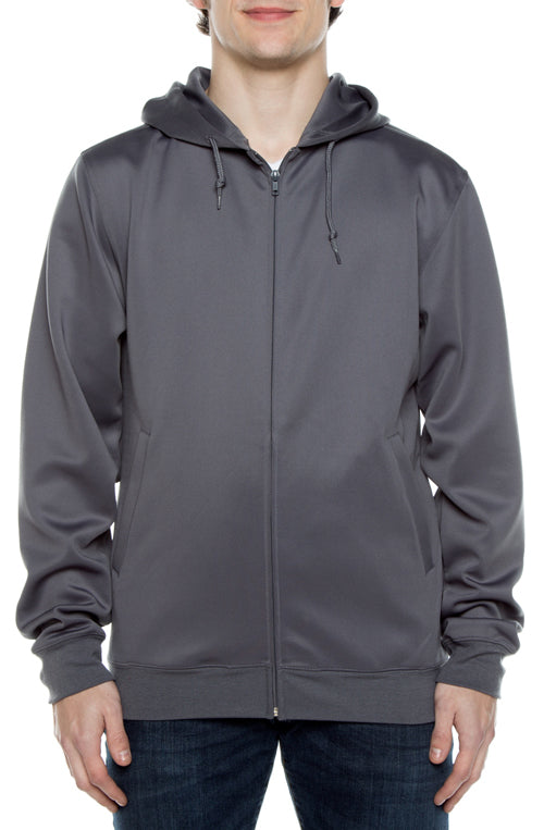 Air Layer Tech Zip Hoodie Grey - COTTONHOOD