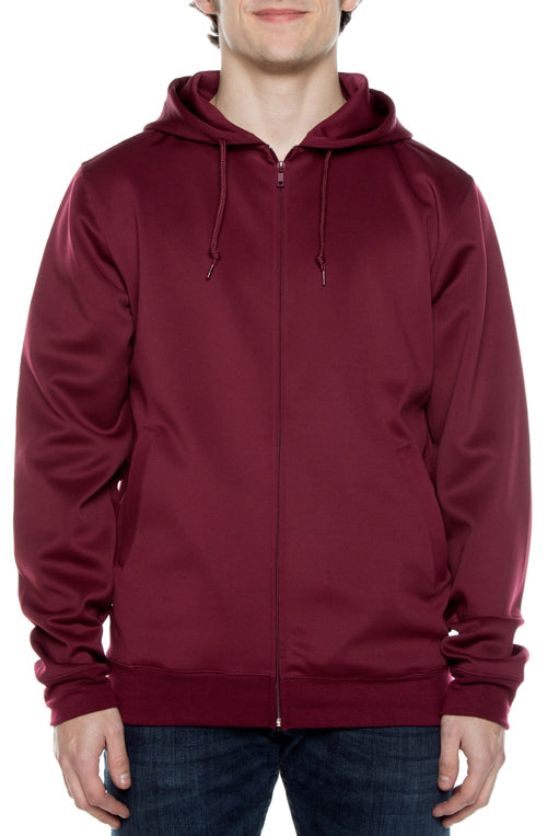 Air Layer Tech Zip Hoodie Maroon - COTTONHOOD