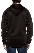 Air Layer Tech 1/4 Zip Hoodie Black - COTTONHOOD