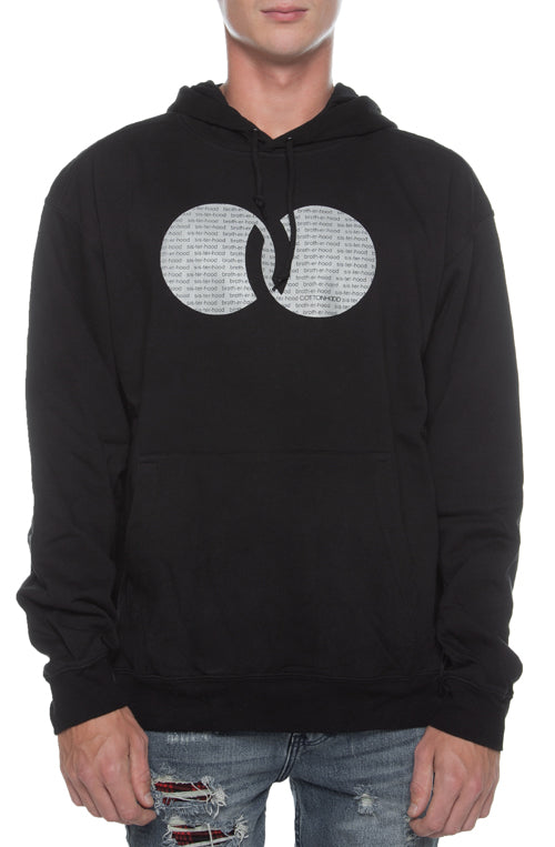 Cottonhood Repeat Slogan Hoodie Black - COTTONHOOD