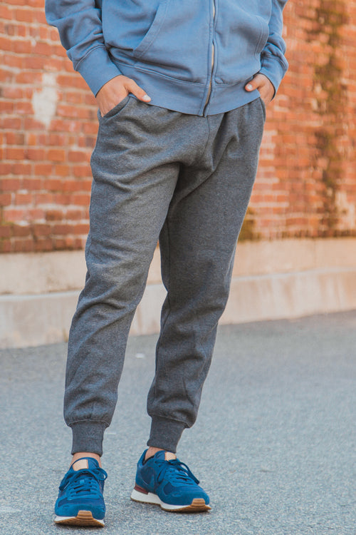 Jogger Fleece Pants Charcoal Heather - COTTONHOOD