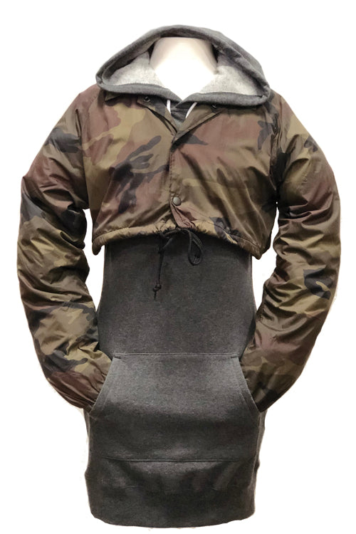 Women's Cropped Coaches Jacket Camo - COTTONHOOD