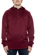 Air Layer Tech 1/4 Zip Hoodie Maroon - COTTONHOOD