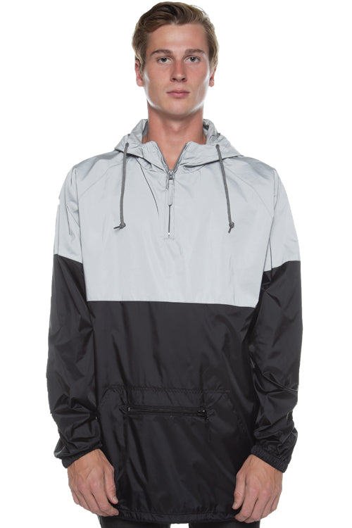 Two-Tone Reflective Anorak Silver/Black - COTTONHOOD