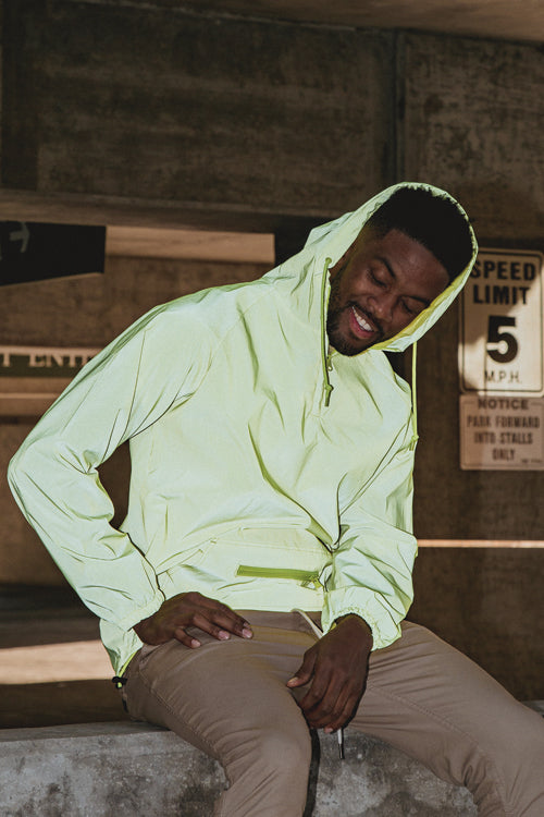 Full Reflective Anorak Yellow - COTTONHOOD