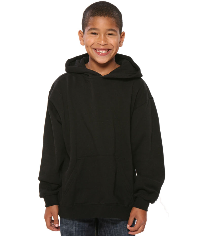 Youth Pullover Hoodie Black - COTTONHOOD