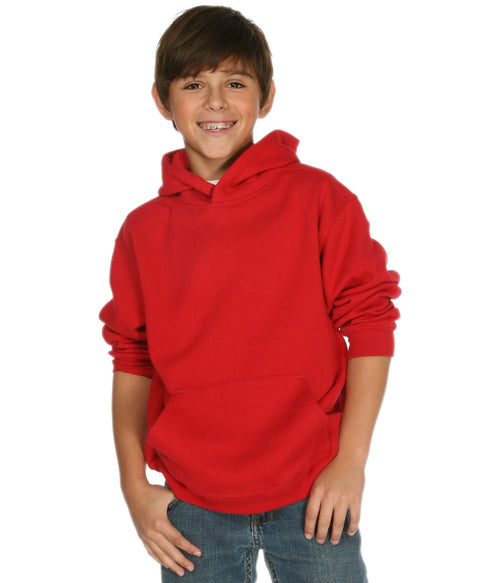 Youth Pullover Hoodie Red - COTTONHOOD
