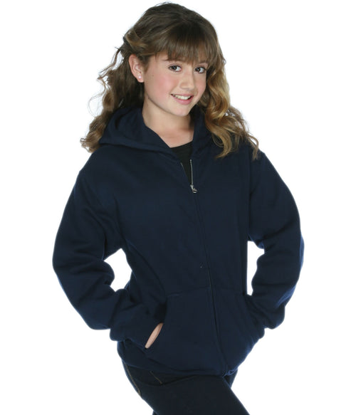 Youth Zip Hoodie Deep Navy