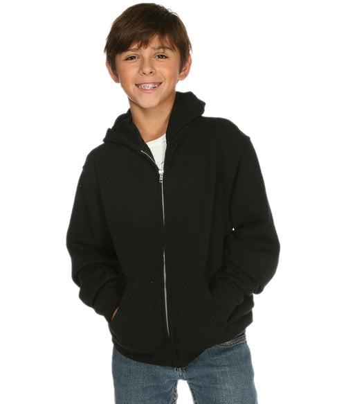 Youth Zip Hoodie Black - COTTONHOOD
