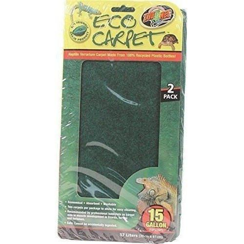 "Zoo Med Reptile Cage Carpet 10 Gallon Tanks - 20"" Long x 10"" Wide (2 Pack)"