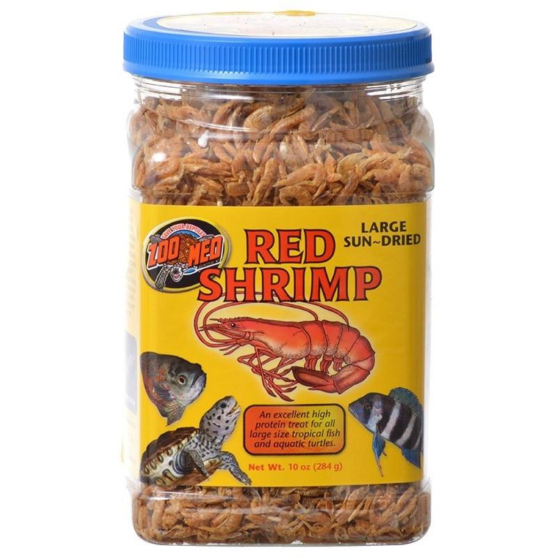 ZooMed Large Sun-Dried Red Shrimp - 10 oz
