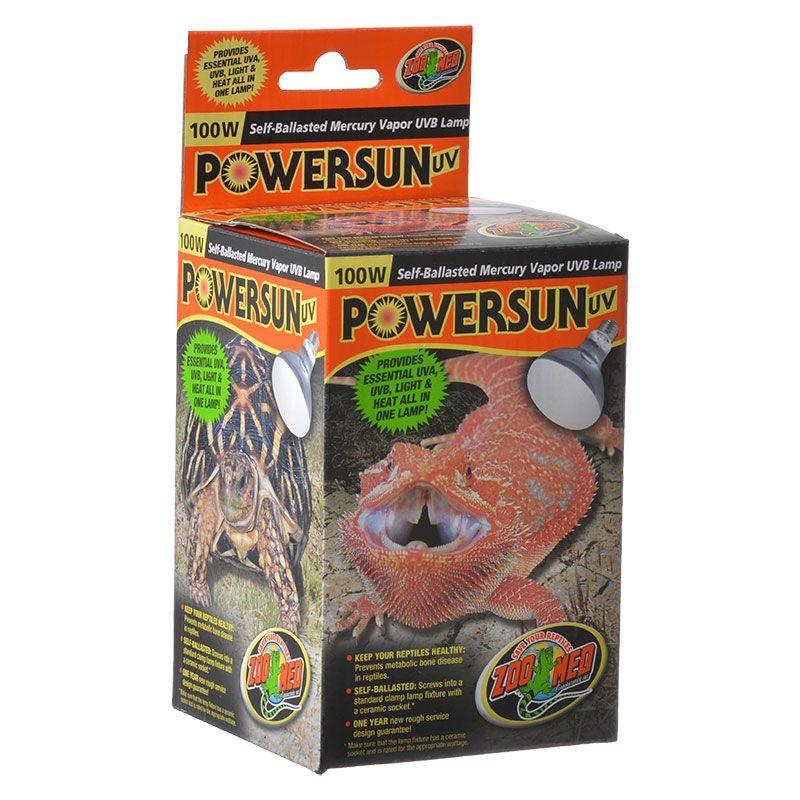 Zoo Med Powersun UVB Mercury Vapor Lamp