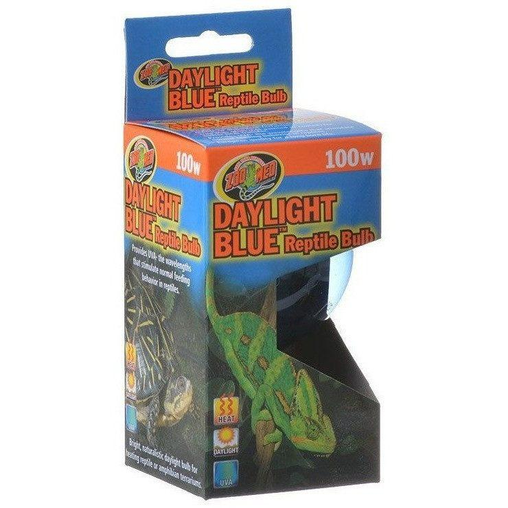 Zoo Med Daylight Blue Reptile Bulb Lighting Incandescent Zoo Med 100 Watts
