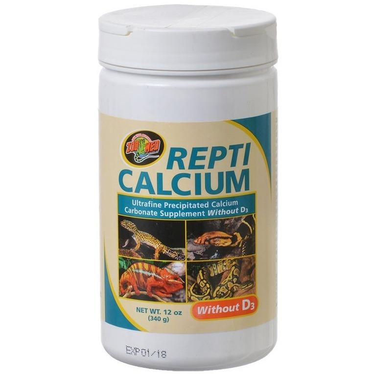 Zoo Med Repti Calcium Without D3 Supplements Zoo Med 12 oz