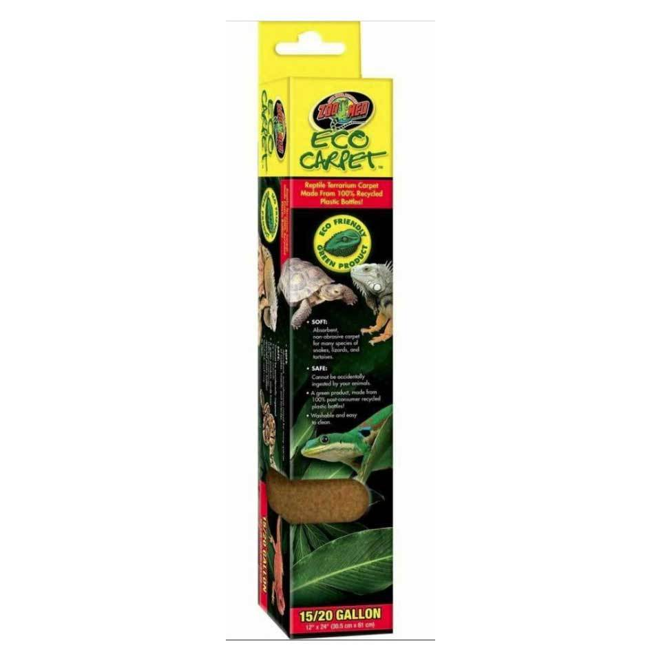 "Zoo Med Eco Carpet - Green or Tan Reptile Carpet Cage Carpets Zoo Med 15-20 Gall (12"" x 24"") - Tan"