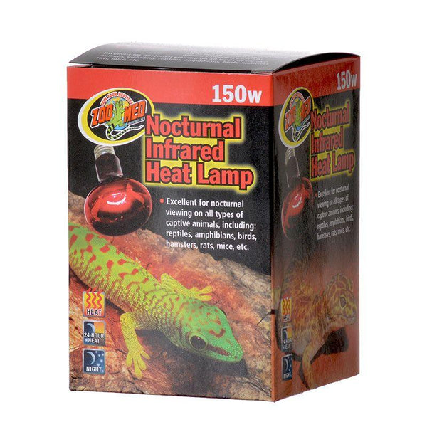 Reptile Lighting Incandescent Zoo Med Nocturnal Infrared Heat Lamp Reptiles Lounge
