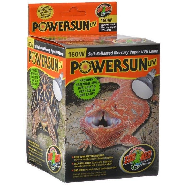 Reptile Lighting Incandescent Zoo Med Powersun Uvb Mercury Vapor Lamp Reptiles Lounge