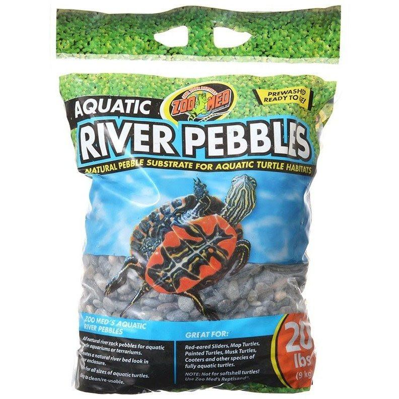 ZooMed Aquatic River Pebbles - 20 lbs