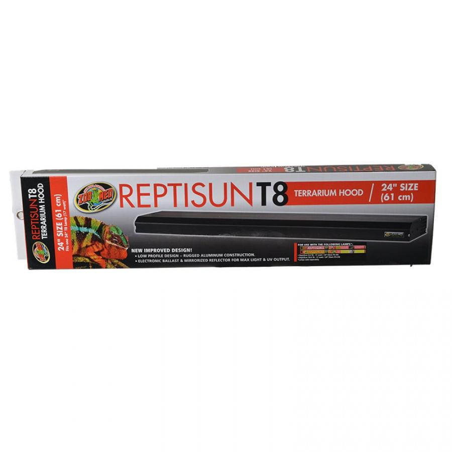 "Zoo Med ReptiSun T8 Terrarium Hood Lighting Fluorescent Zoo Med 20"" Fixture without Bulb (18"" Bulb Required)"