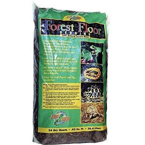 Zoo Med Forest Floor Bedding - All Natural Cypress Mulch Bedding Zoo Med 24 Quarts