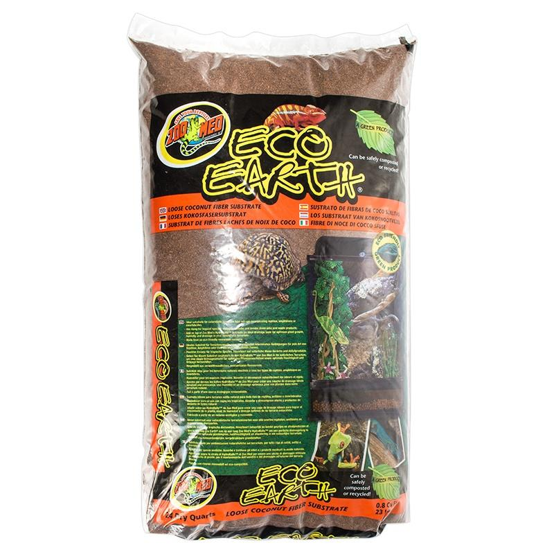 Zoo Med Eco Earth Loose Coconut Fiber Substrate Bedding Zoo Med 8 Quarts