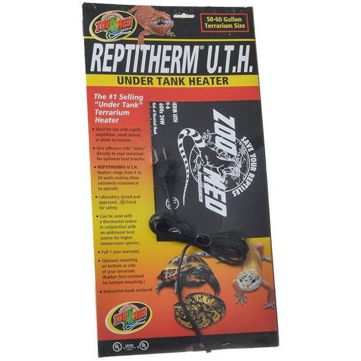 "Zoo Med Repti Therm Under Tank Reptile Heater Heating Zoo Med 24 Watts - 18"" Long x 8"" Wide (50-60 Gallons)"