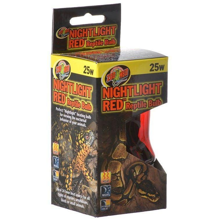 Zoo Med Nightlight Red Reptile Bulb Lighting Incandescent Zoo Med