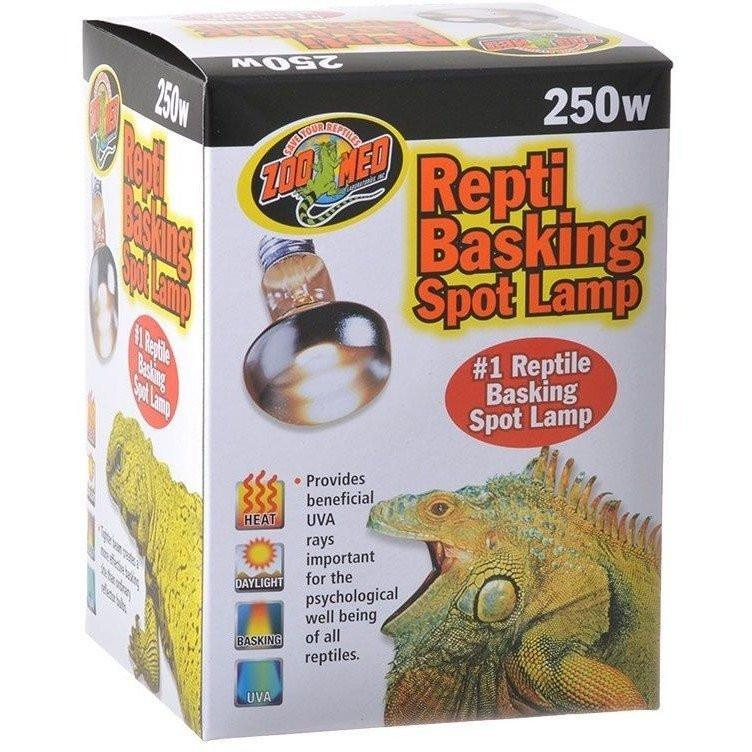 Zoo Med Repti Basking Spot Lamp with UVA Lighting Incandescent Zoo Med 250 Watts