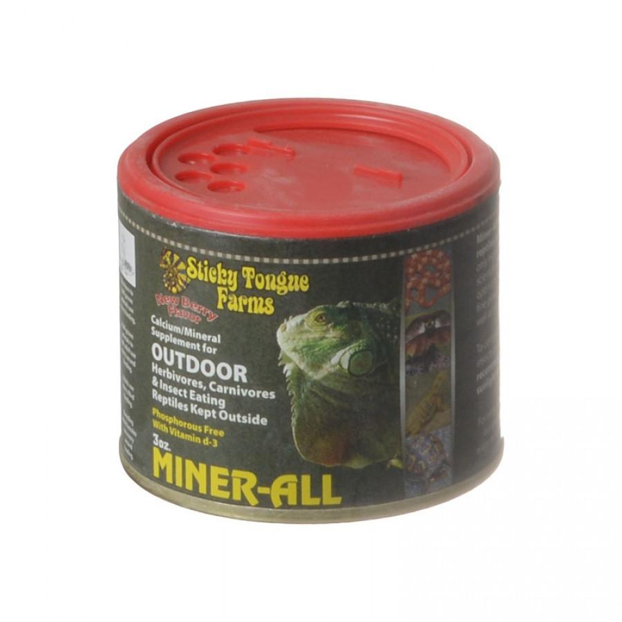 Sticky Tongue Farms Miner-All Outdoor Reptile Supplement - Berry Flavor 3 oz