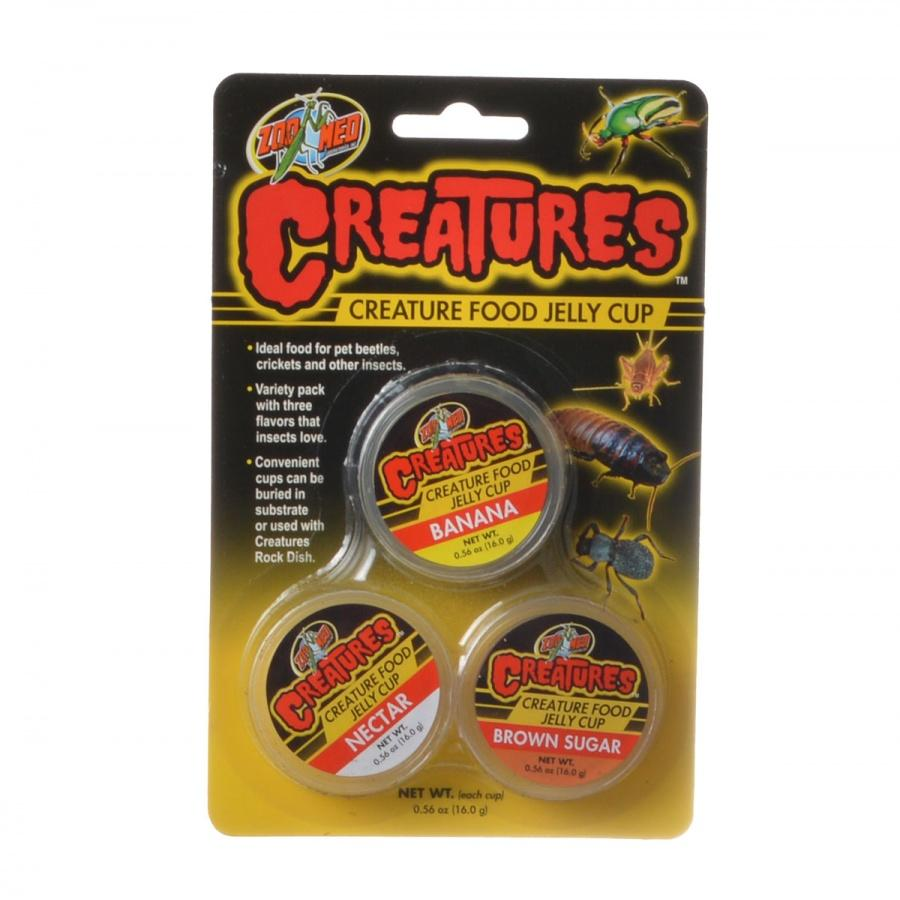 Zoo Med Creatures Creature Food Jelly Cup 3 Pack - (0.56 oz/16 g Each)