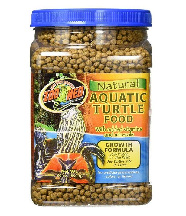 Zoo Med Natural Aquatic Turtle Food - Growth Formula Foods Dry Zoo Med 30 oz