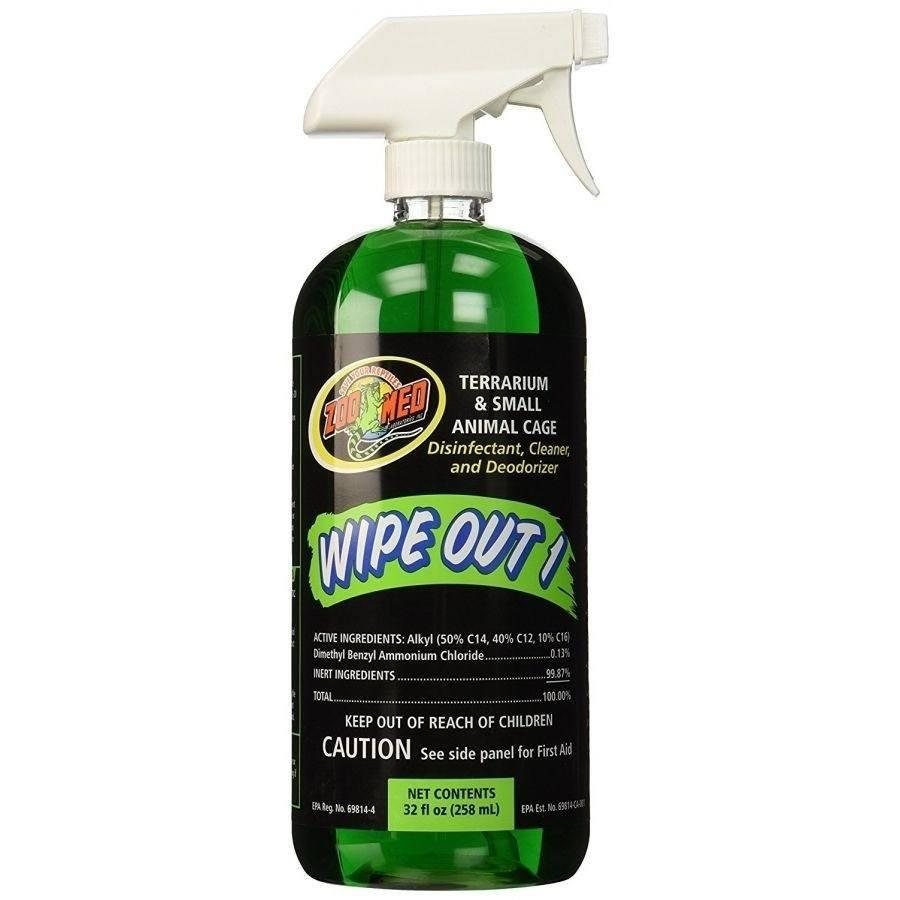 Zoo Med Wipe Out 1 - Small Animal & Reptile Terrarium Cleaner Cleaners Zoo Med 32 oz