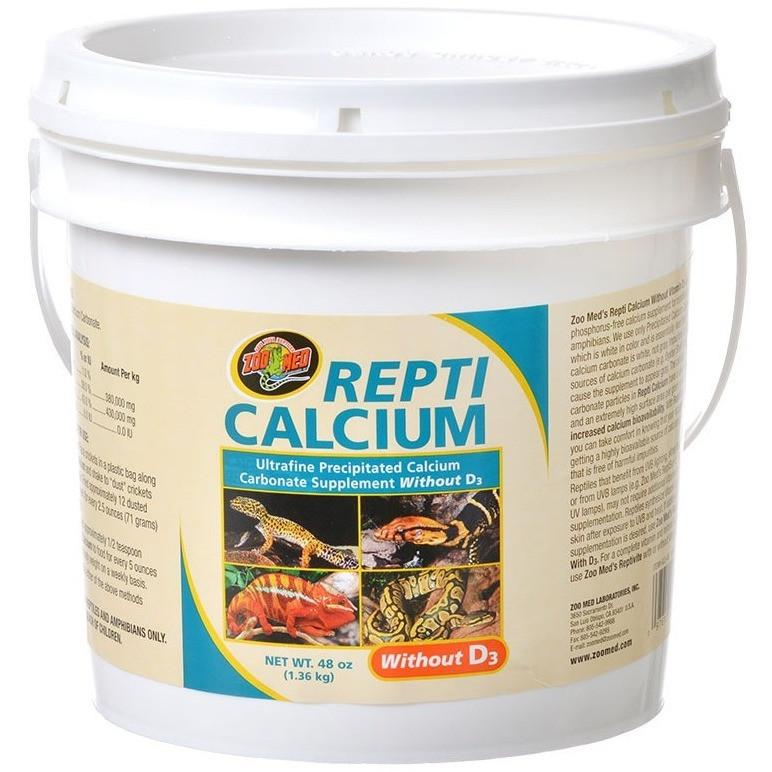 Zoo Med Repti Calcium Without D3 Supplements Zoo Med 48 oz