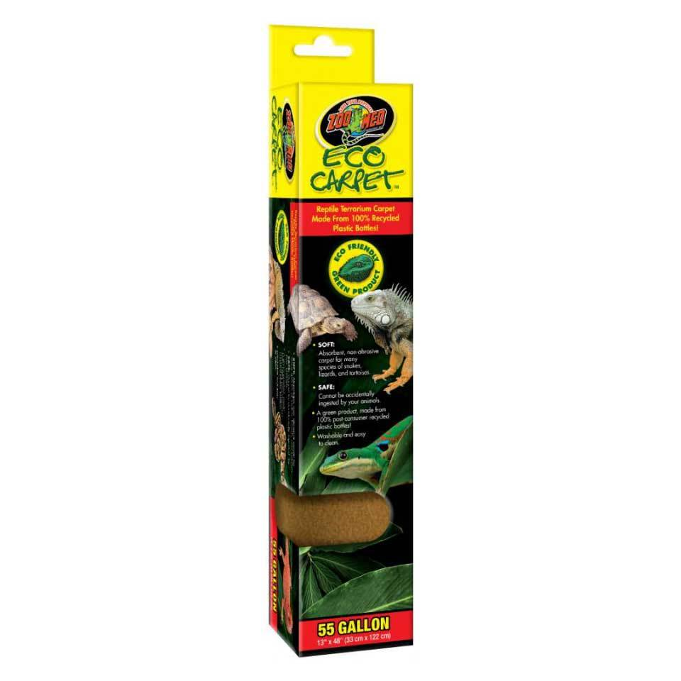 "Zoo Med Eco Carpet - Green or Tan Reptile Carpet Cage Carpets Zoo Med 55 Gall (13"" x 48"") - Tan"