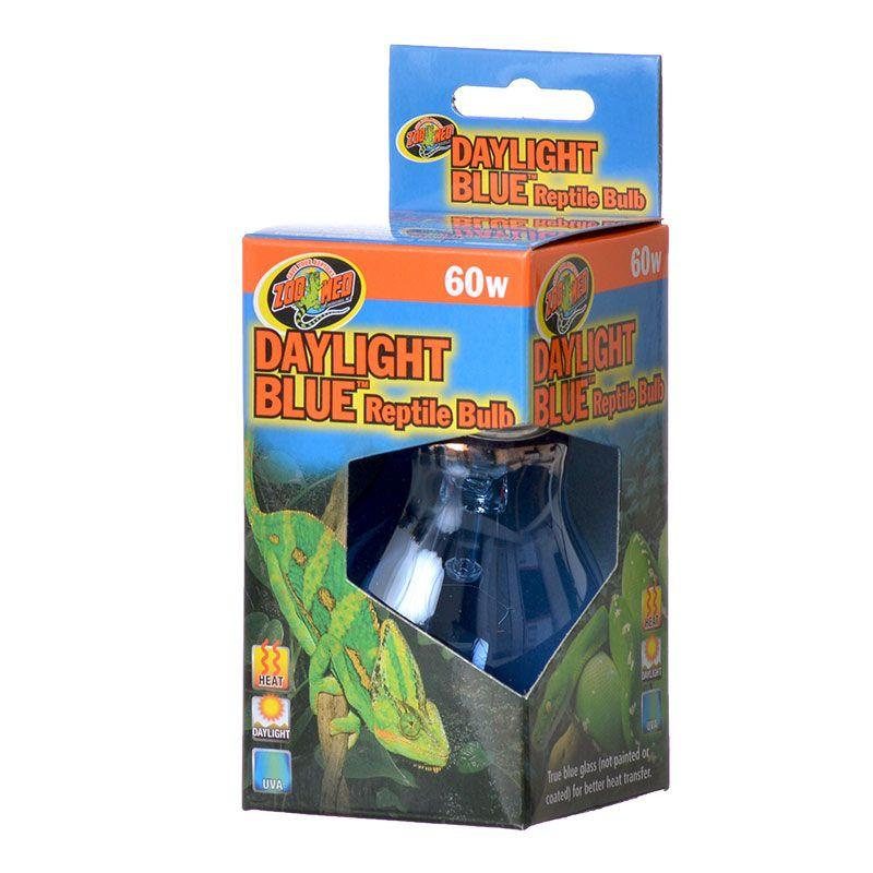 Zoo Med Daylight Blue Reptile Bulb Lighting Incandescent Zoo Med 60 Watts