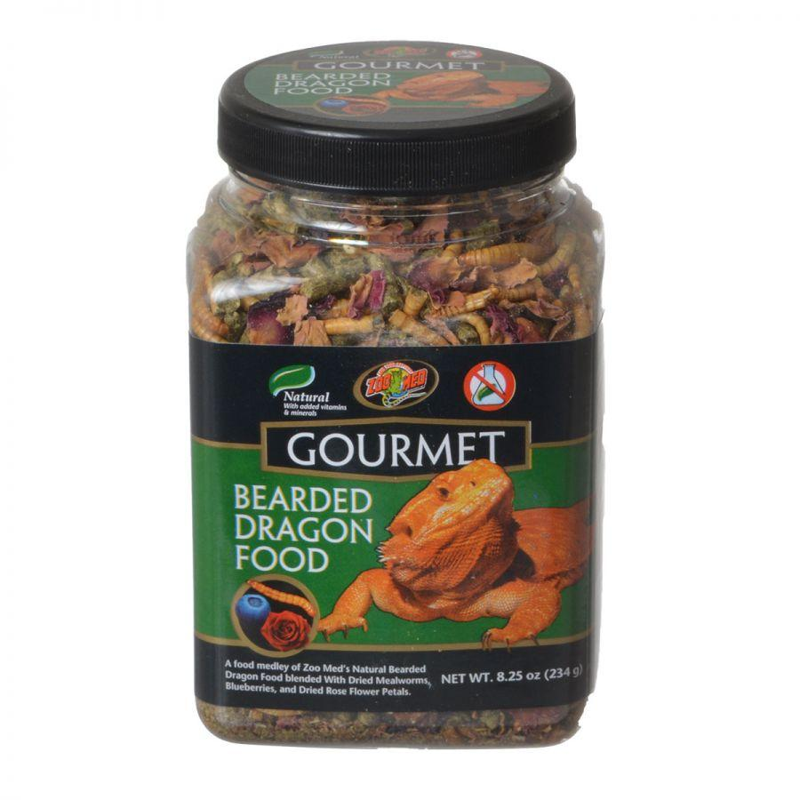 Zoo Med Gourmet Bearded Dragon Food Foods Dry Zoo Med 8.25 oz