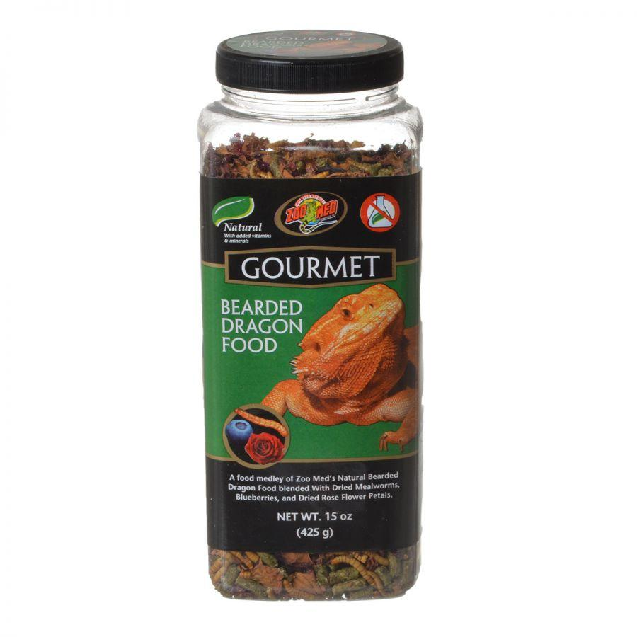 Zoo Med Gourmet Bearded Dragon Food Foods Dry Zoo Med 15 oz