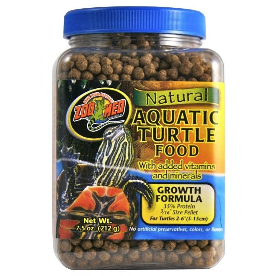 Zoo Med Natural Aquatic Turtle Food - Growth Formula Foods Dry Zoo Med 7.5 oz