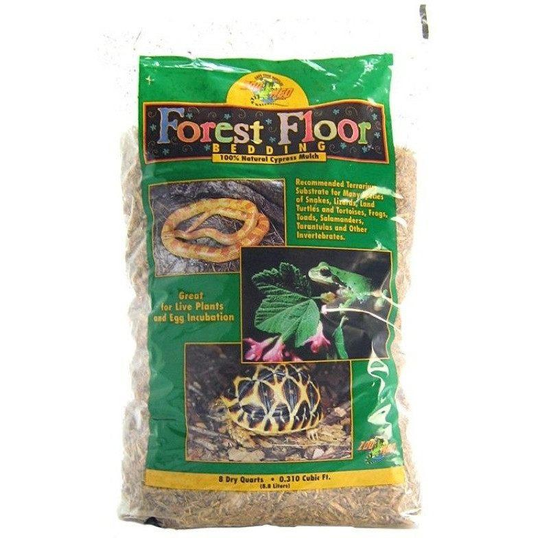 Zoo Med Forest Floor Bedding - All Natural Cypress Mulch Bedding Zoo Med 8 Quarts