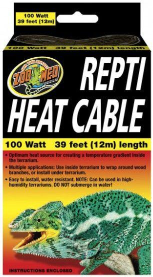 Zoo Med Repti Heat Cable Heating Zoo Med 100 Watts (39' Long)
