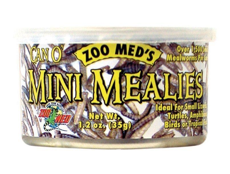 Zoo Med Can O Mini Mealies Pet Food Foods Canned Zoo Med 1.2 oz
