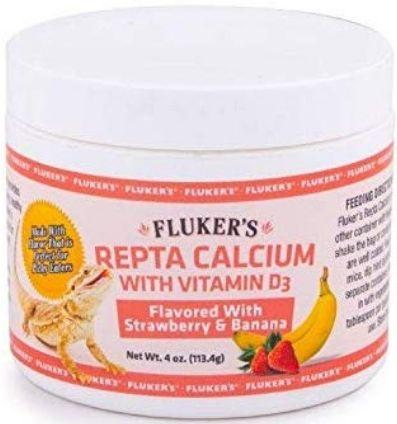 Flukers Strawberry Banana Flavored Repta Calcium 2 oz